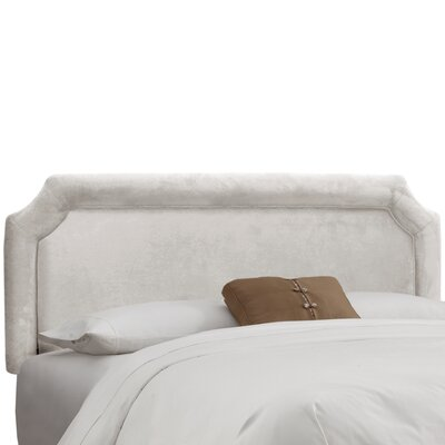 Amber Upholstered Panel Headboard Size: King, Upholstery: Premier White