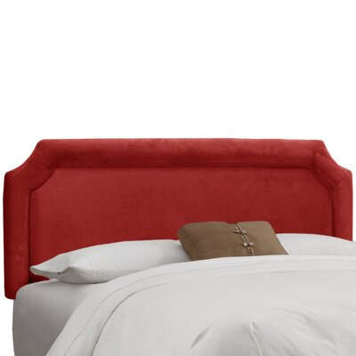 Amber Upholstered Panel Headboard Upholstery: Premier Red, Size: King