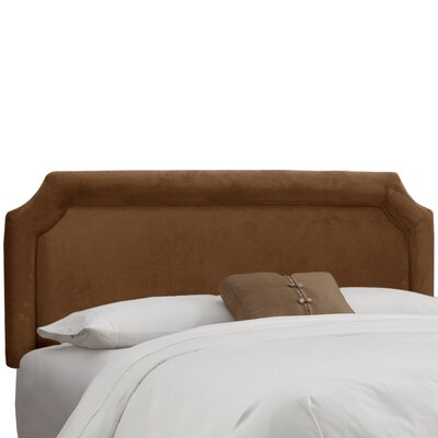 Amber Upholstered Panel Headboard Upholstery: Premier Chocolate, Size: Twin