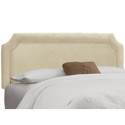 Chittening Upholstered Panel Headboard Upholstery: Regal Antique White, Size: California King