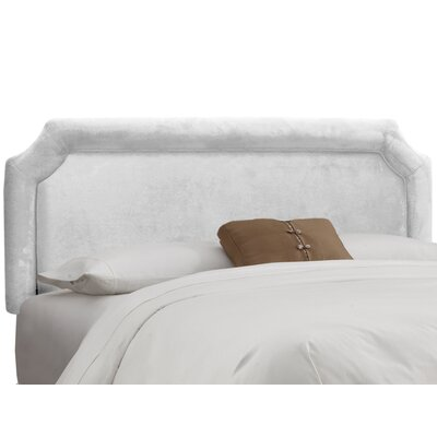 Fairview Upholstered Panel Headboard Upholstery: Velvet White, Size: King
