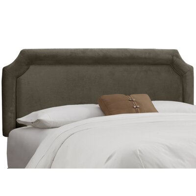 Fairview Upholstered Panel Headboard Upholstery: Velvet Pewter, Size: California King