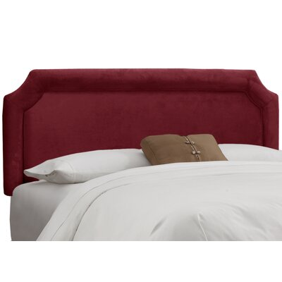 Fairview Upholstered Panel Headboard Upholstery: Velvet Berry, Size: California King