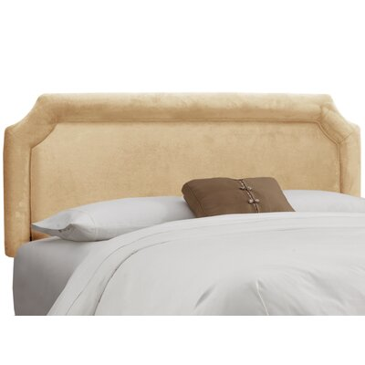 Fairview Upholstered Panel Headboard Size: Twin, Upholstery: Velvet Buckwheat