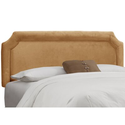 Fairview Upholstered Panel Headboard Upholstery: Velvet Honey, Size: California King