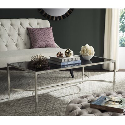 Boville Coffee Table Table Top Color: Black, Table Base Color: Silver