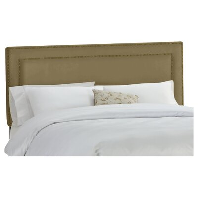 Doleman Nail Buttoned Upholstered Panel Headboard Size: Full, Upholstery: Khaki