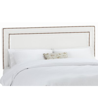 Euramo Upholstered Panel Headboard Upholstery: Classico White, Size: Full