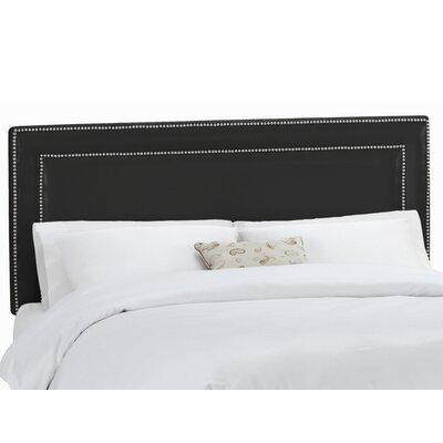 Euramo Upholstered Panel Headboard Upholstery: Classico Black, Size: Full