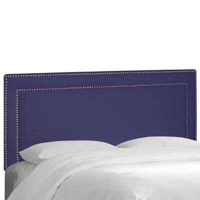 Fanning Springs Upholstered Panel Headboard Upholstery: Regal Patriot Blue, Size: Queen
