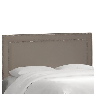Fanning Springs Upholstered Panel Headboard Upholstery: Regal Smoke, Size: King
