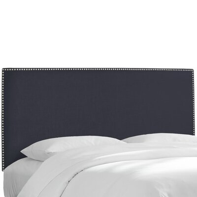 Pine Island Twill Upholstered Panel Headboard Upholstery: Twill Navy, Size: Twin