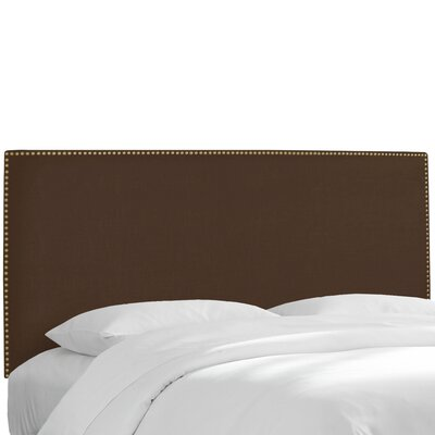 Island Twill Upholstered Panel Headboard Upholstery: Twill Chocolate, Size: Queen