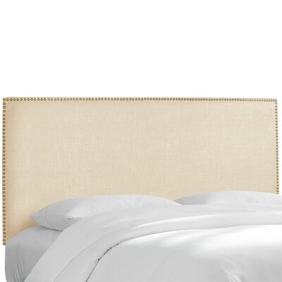 Island Twill Upholstered Panel Headboard Upholstery: Twill Natural, Size: California King