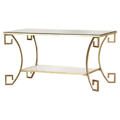 Ondina Woodsetter Coffee Table Color: Antique Gold