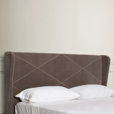 Collinsville Rowe King Upholstered Wingback Headboard