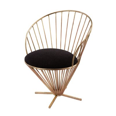 Risner Iron Taper Wire Papasan Chair