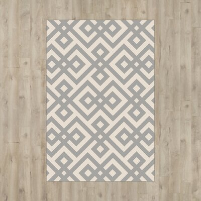 Luke Hand-Hooked Light Gray Area Rug Rug Size: 2 x 3