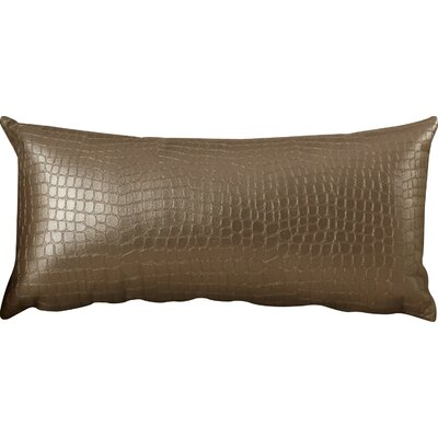 Gianna Gator Throw Pillow Color: Pewter
