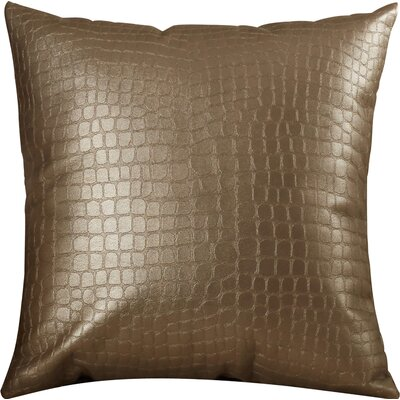 Adrastus Gator Throw Pillow Size: 16 H x 16 W, Color: Pewter