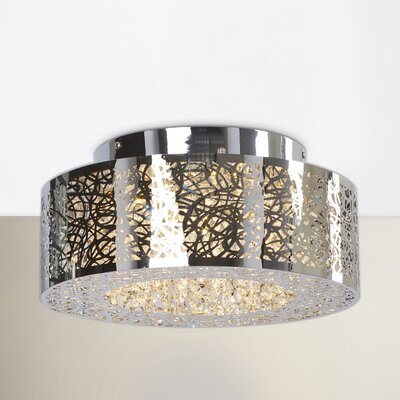 Brooklington 72-Light Flush Mount Size: 5.75 H x 15 W x 15 D