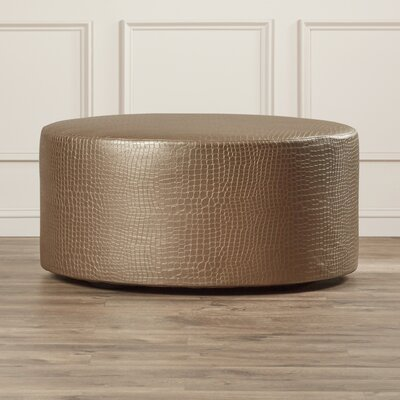 Courcelles Gator Round Ottoman Upholstery: Pewter