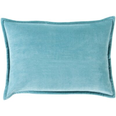 Cotton Lumbar Pillow Color: Dark Sky Blue, Filler: Down