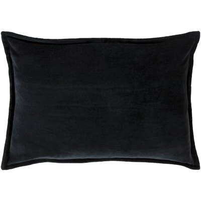 Cotton Lumbar Pillow Color: Charcoal, Filler: Down