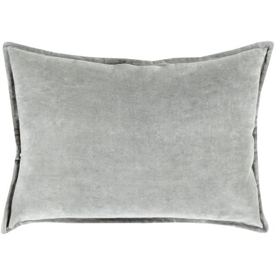 Cotton Lumbar Pillow Color: Dark Gray, Filler: Down