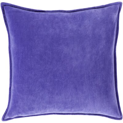 Cotton Lumbar Pillow Color: Violet, Filler: Polyester