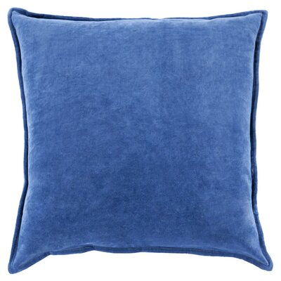 Cotton Lumbar Pillow Color: Cobalt, Filler: Down