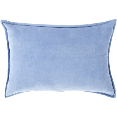 Cotton Lumbar Pillow Color: Sky Blue, Filler: Polyester