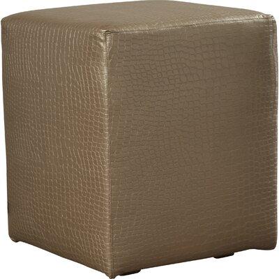 Ethel Gator Cube Ottoman Upholstery: Pewter
