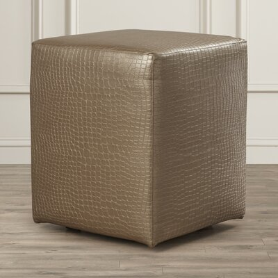 Courcelles Gator Cube Ottoman Upholstery: Pewter