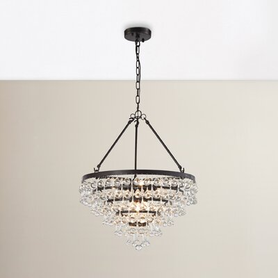 Hayward 6-Light Crystal Chandelier Bulb Type: 4.8W LED