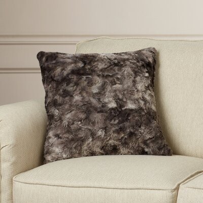 Geremia Throw Pillow Size: 22 H x 22 W x 4 D, Color: Charcoal/Light Gray