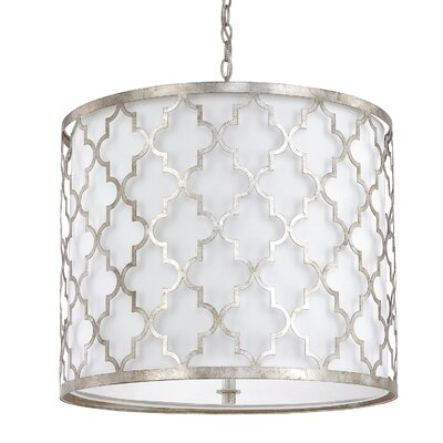 Reidar 5-Light Drum Pendant Finish: Antique Silver
