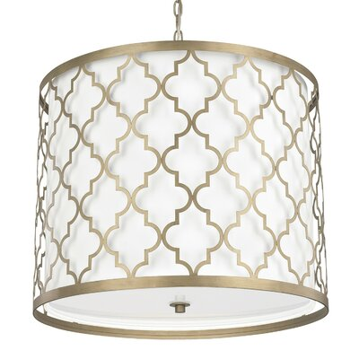 Aurea 5-Light Drum Pendant Finish: Brushed Gold