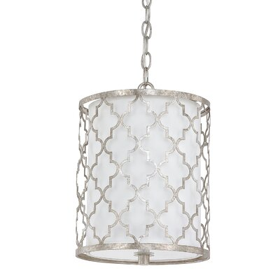 Aurea 2-Light Drum Pendant Finish: Antique Silver