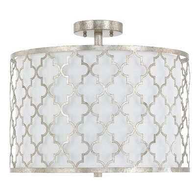 Reidar 3-Light Drum Pendant Finish: Antique Silver