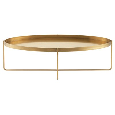 Roseman Coffee Table with Tray Top Color: Gold