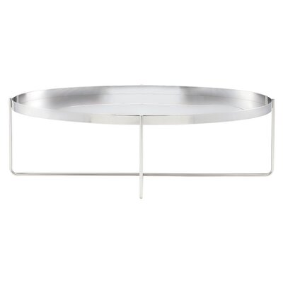 Roseman Stainless Steel Coffee Table Finish: Silver