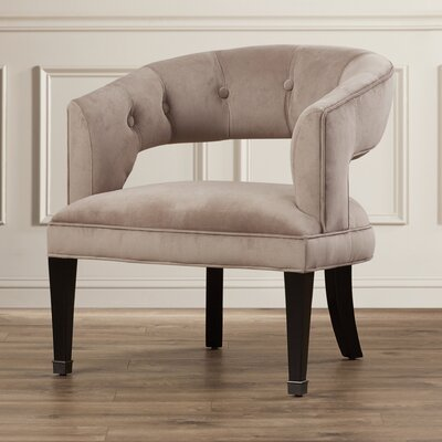 Jaden Barrel Chair Upholstery: Silver