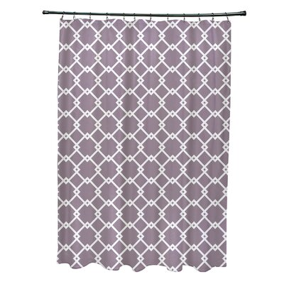 Pandro Geometric Shower Curtain Color: Purple