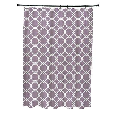 Pandro Geometric Shower Curtain Color: Purple