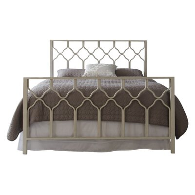 Hasse Open-Frame Headboard Size: King, Color: Antique Brushed White