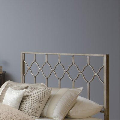 Hasse Open-Frame Headboard Size: Queen, Color: Antique Brushed White