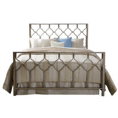Hasse Panel Bed Size: Twin, Color: Brushed Gold