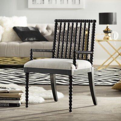Jason Arm Chair Finish: Black