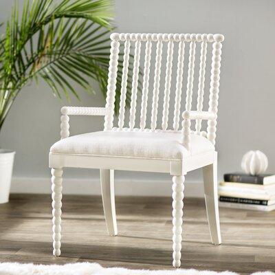Jason Arm Chair Finish: White